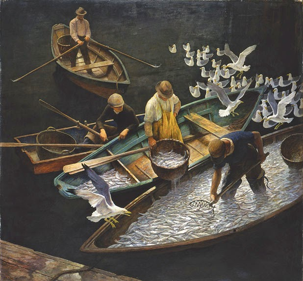 wyeth n c Dark Harbor Fisherman